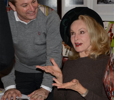 Stephen Monkarsh and Julie Newmar