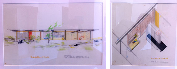 Eichler Homes architectural renderings, Raphael S. Soriano, AIA