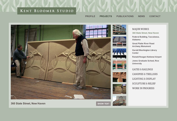 Kent Bloomer Studio website