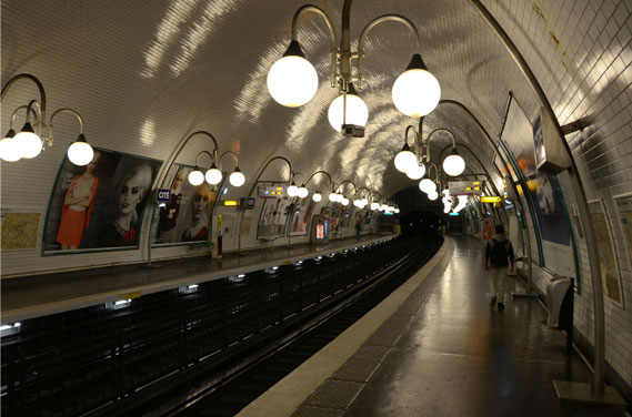 Cité metro station, Paris.