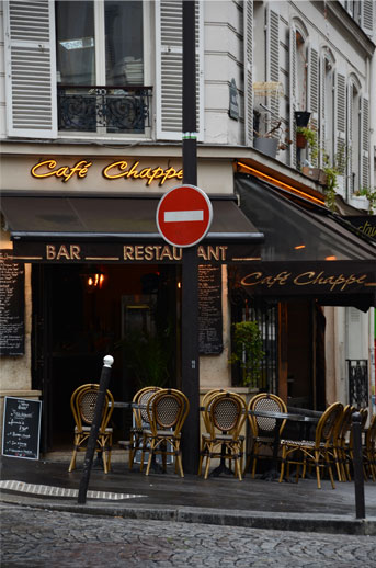 Cafe, Montmarte area of Paris.