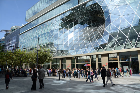 My Zeil shopping center, Frankfurt.