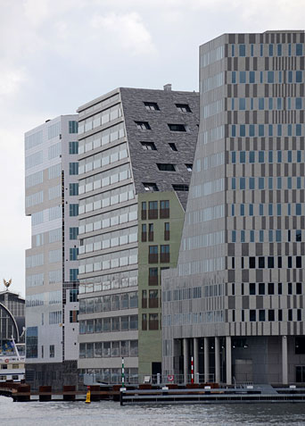 Contemporary residential buildings, Amsterdam.